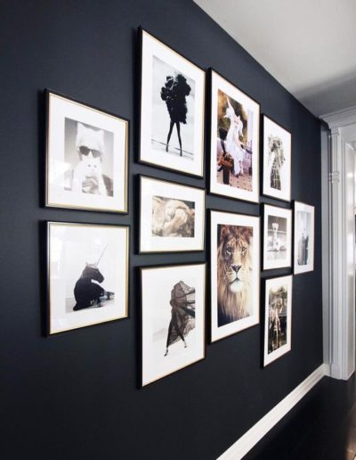 Dramatic Dark-painted-gallery-wall